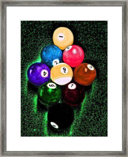 Billiards Art - Your Break Framed Print