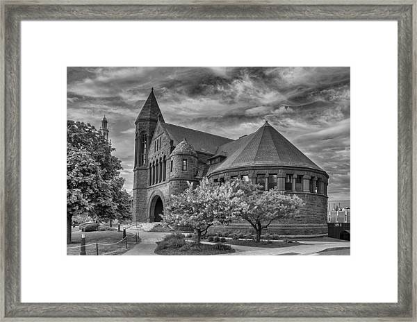 Billings Library At Uvm Burlington  Framed Print