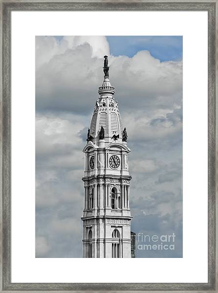 Billy Penn In The Clouds Framed Print by Stacey Granger