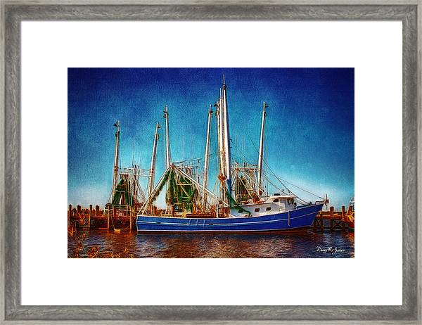 Framed Print featuring the photograph Biloxi Boat Docks by Barry Jones