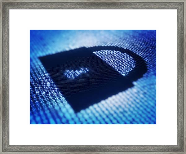 Electronic Data Security Framed Print