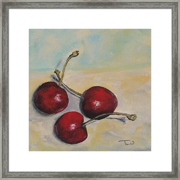 Bing Cherries Framed Print by Torrie Smiley