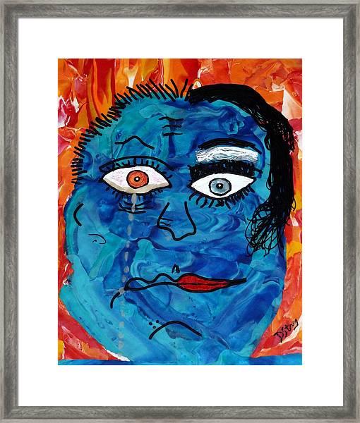 Bipolar Blues Framed Print