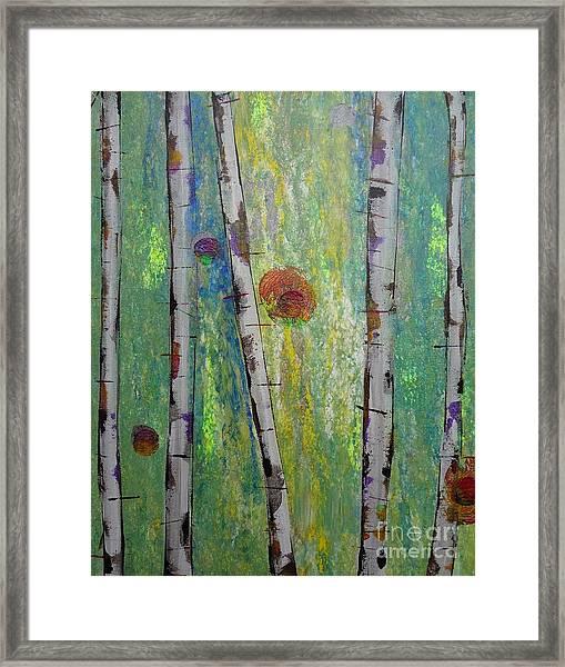 Birch - Lt. Green 5 Framed Print
