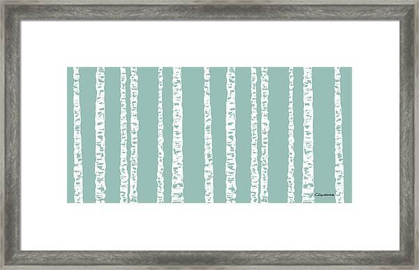 Birches Di Framed Print