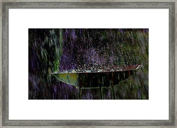Bird Bath Explosion Framed Print