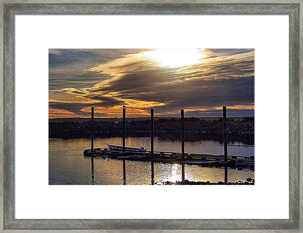 Bird - Boat - Bay Framed Print