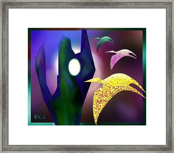 Bird Magic Framed Print
