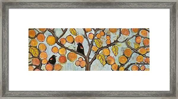 Birds In Paris Landscape Framed Print
