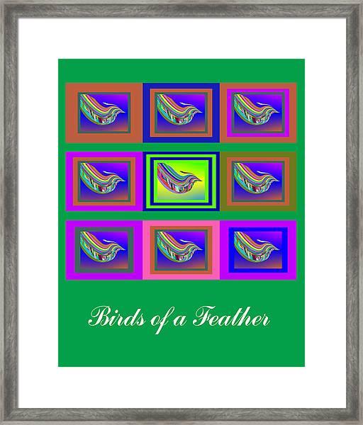 Birds Of A Feather 2 Framed Print