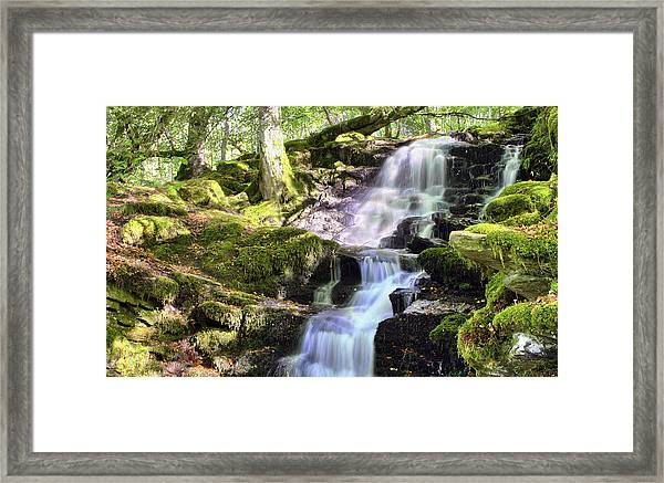 Birks Of Aberfeldy Cascading Waterfall - Scotland Framed Print