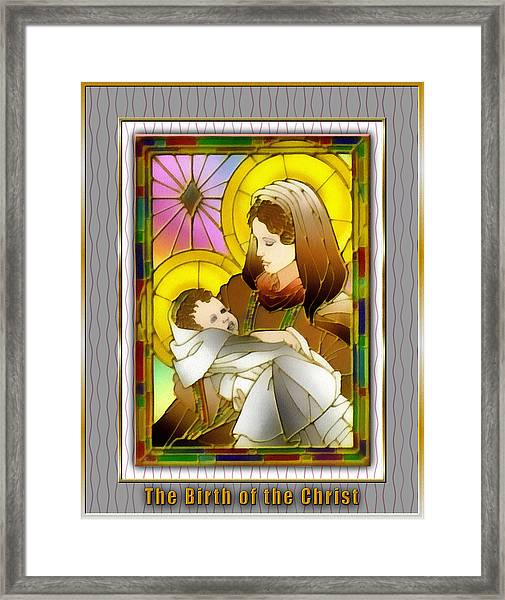 Birth Of The Christ Framed Print