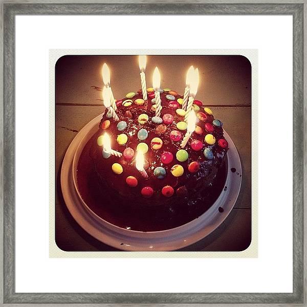 Birthday Cake  Framed Print