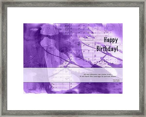 Birthday Quote 1 Framed Print