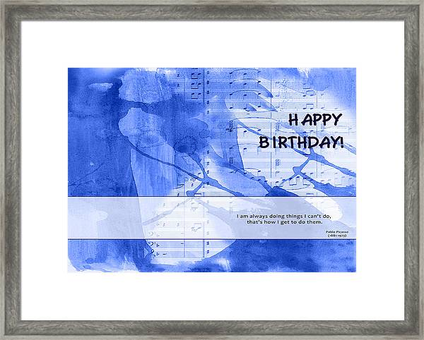 Birthday Quote 2 Framed Print
