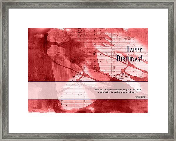 Birthday Quote 3 Framed Print