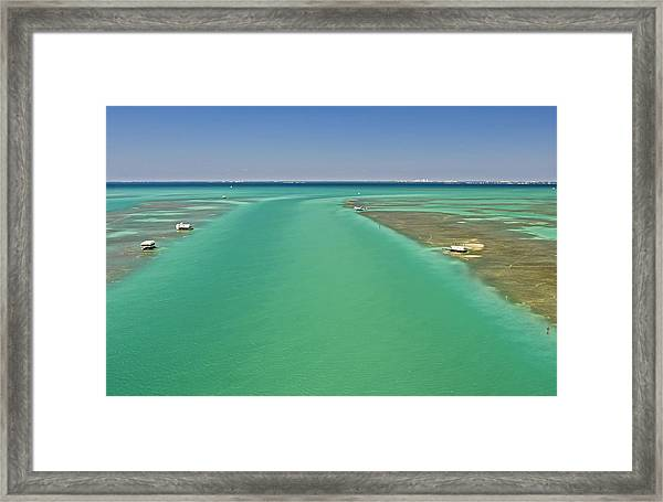 Biscayne Bay Stiltsville. Framed Print