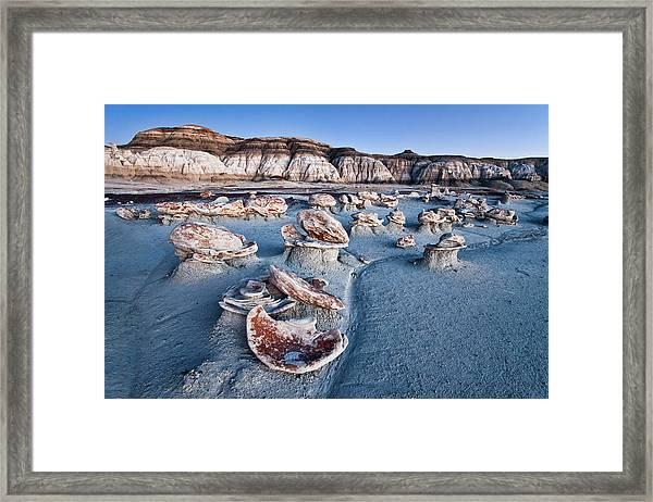 Bisti Blue Framed Print