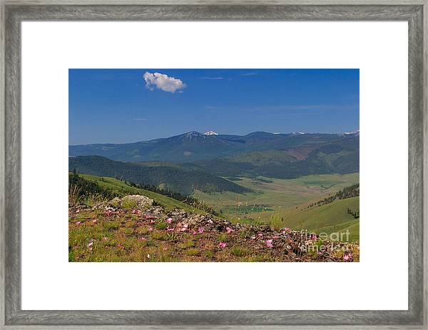 Bitterroot Montana View Framed Print by Charles Kozierok