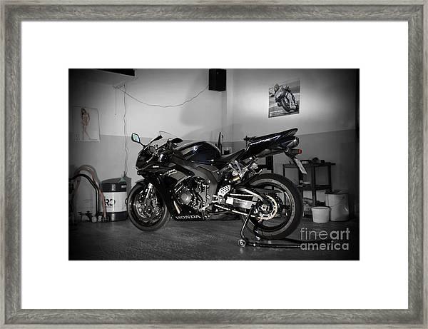 Black 2007 Honda Cbr1000rr Framed Print