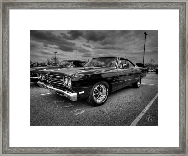 Black '69 Plymouth Road Runner 001 Framed Print