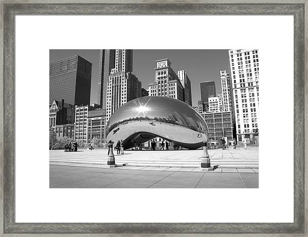 Chicago - The Bean Framed Print