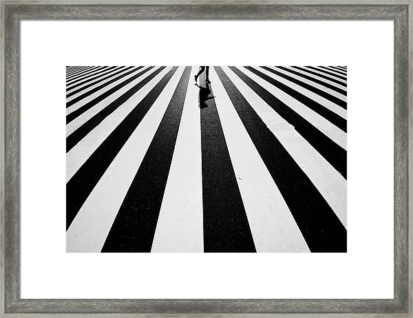 Black And White Framed Print by Kouji Tomihisa