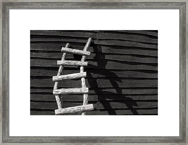 Black And White Ladder Framed Print