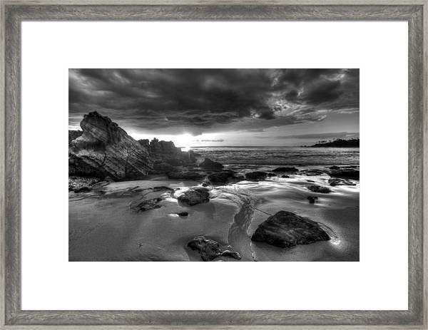 Black And White Laguna Beach Framed Print