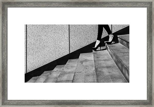 Black And White Framed Print by Mikhail Potapov