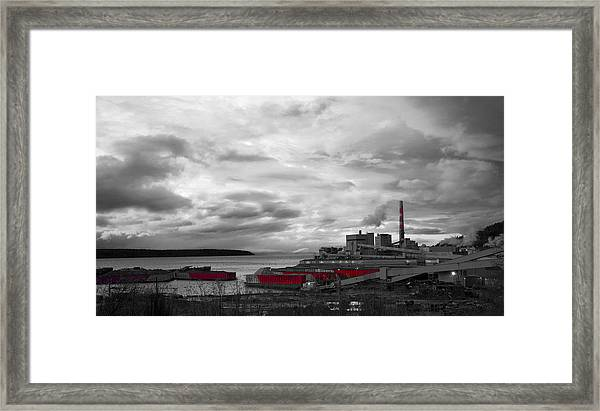 Black And White Mill Framed Print