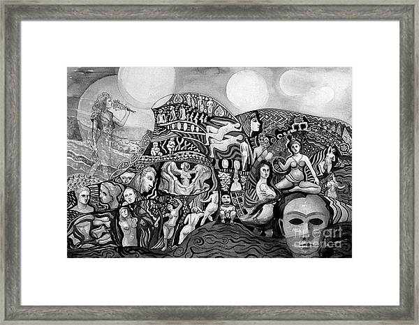 Black And White Of A Season Of Women Framed Print