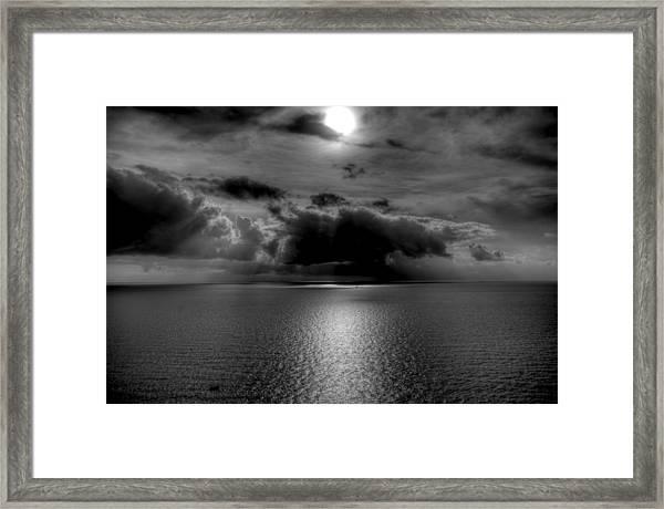 Black And White Of The Med Framed Print