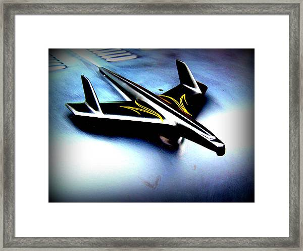 Black And Yellow Hood Ornament  Framed Print by Willy  Nelson