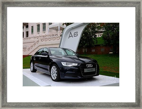 Black Audi A6 Classic Saloon Car Framed Print