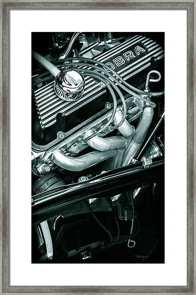 Black Cobra - Ford Cobra Engines Framed Print