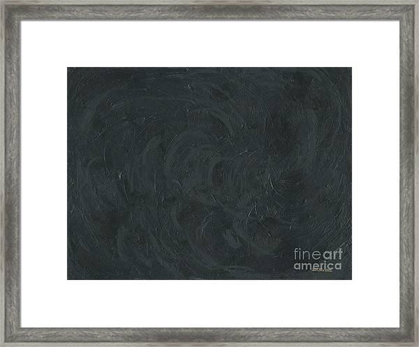 Black Color Of Energy Framed Print