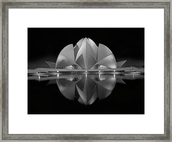Black Contrast Framed Print by Nimit Nigam