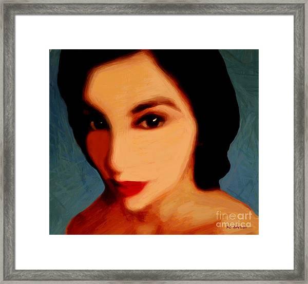 Black-eyed Beauty Framed Print
