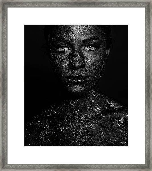 Black Face Framed Print