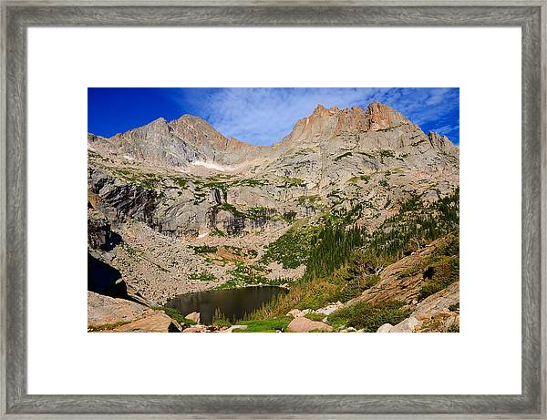 Black Lake Framed Print