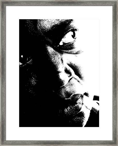 Black Miracle Portrait 12 Framed Print