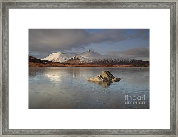 Black Mount And Lochan Na H-achlaise Framed Print