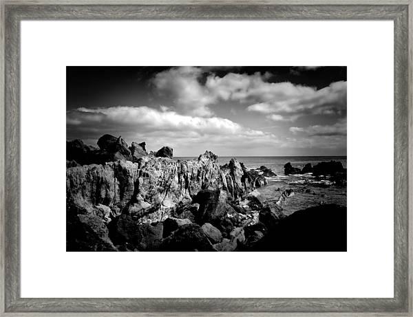 Black Rocks 3 Framed Print