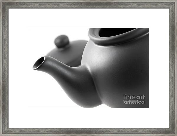 Black Teapot Framed Print