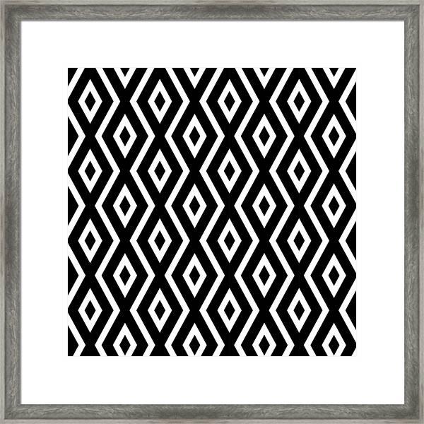 Black And White Pattern Framed Print