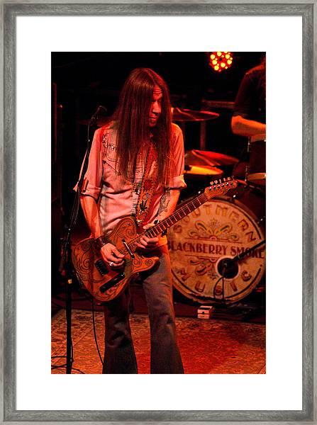 Blackberry Smoke Guitarist Charlie Starr Framed Print