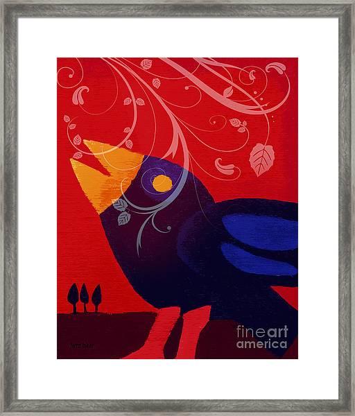Blackbird Framed Print by Lutz Baar