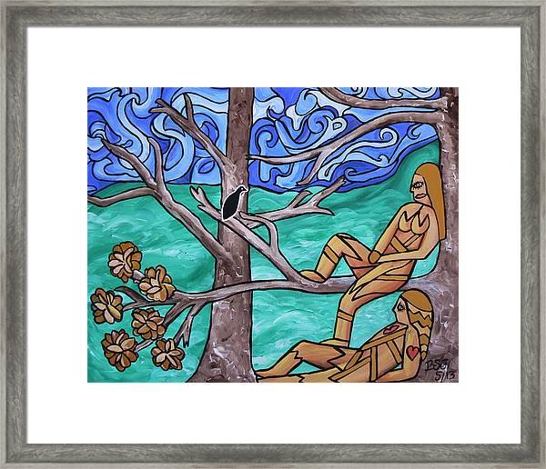 Blackbird Singing Framed Print