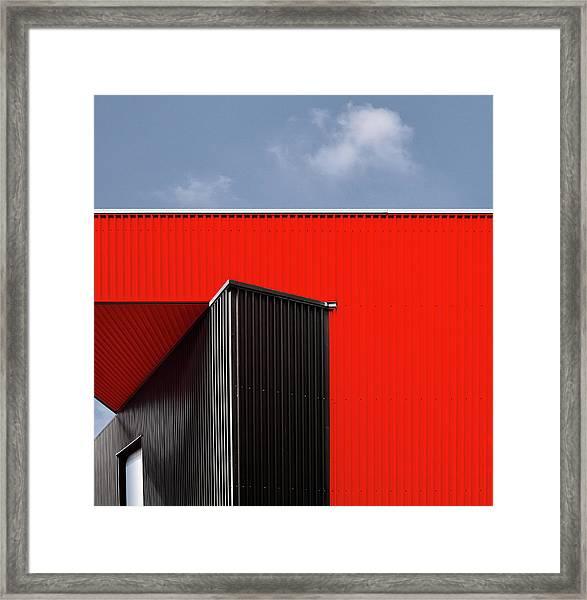 Black/red. Framed Print by Harry Verschelden